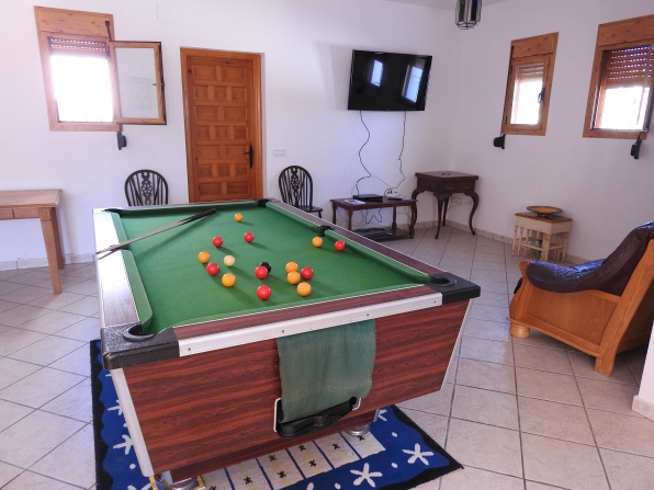 Pool Table and TV Area