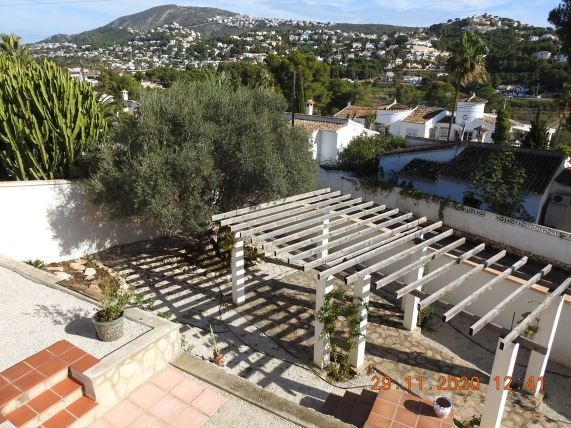 Upper Balcony views of Garden and Moraira