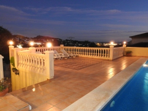 Night Views of Moraira from the Pool Deck